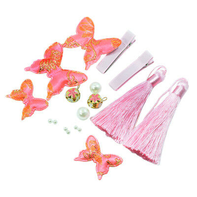 1 Set Women Girls DIY Butterfly Tassel Making DIY Hair Accessories Findings