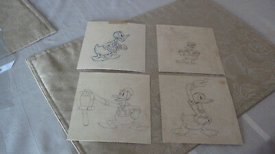 Original Disney Donald Duck Animation Drawings/ One Long Billed