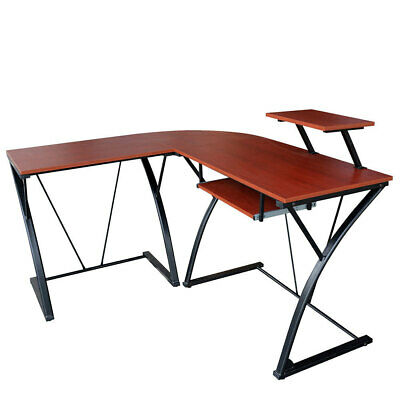 Activiva Khole L-Shaped Computer Desk Home/Office Study/PC Gaming Wood/Steel