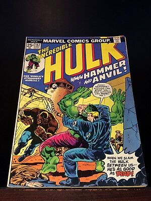 1974 INCREDIBLE HULK #182 early WOLVERINE Good- w/ value stamp intact complete