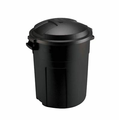 Rubbermaid Black Round Trash Can With Lid Trash Gallon Kitchen Garbage Bag  Steel