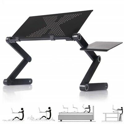 Laptop Notebook PC Desk Table Adjustable Foldable Fan Hole Stand Bed Sofa Tray
