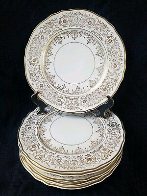 PICKARD DINNER/Cabinet PLATES Fine China Gold VINTAGE HAND PAINTED LOT 6 # 512