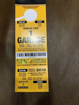 December 16th Steelers vs Patriots Gold 1 Garage