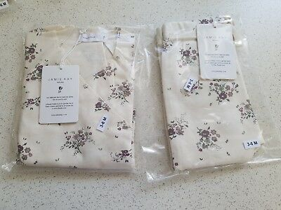 Jamie Kay Forever Floral wrap top and pants 3-6mnths