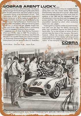 """7"""" x 10"""" Metal Sign - 1964 Shelby Cobra - Vintage Look Repro"""