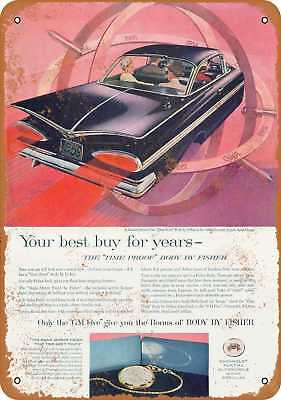 """7"""" x 10"""" Metal Sign - 1959 Chevrolet Impala Sport Coupe - Vintage Look Reproduct"""