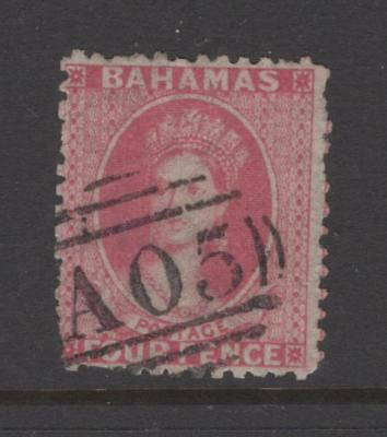 Bahamas 1862 1p, perf 13 Queen Victoria - Used, fault - SC# 9   Cats $475.00