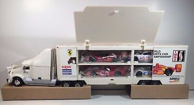 1995 Exxon Toy Race Car Carrier W/4 Cars  Collector's Edition 4th in Series NIB