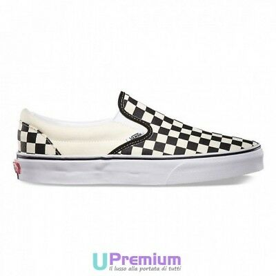 Vans Slip On Without Laces In Chess White Cream Black VEYEBWW Shoes ORIGINAL