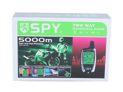 Quality SPY 5000m 2 way motorcycle alarm system w remote start proximity sensor