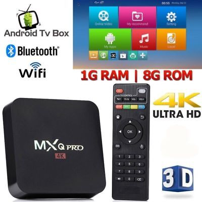 2019 MXQ PRO 4K WIFI TV BOX Android 7.1 1GB 8GB HD 3D Smart Media Player HDMI SD