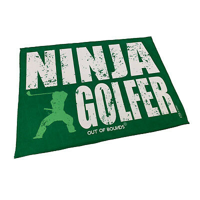 Golf Sports Towel Funny Novelty Sweat Rag - Ninja Golfer