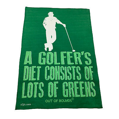 Golf Sports Towel Funny Novelty Sweat Rag - A Golfers Diet Consists Of Lots O