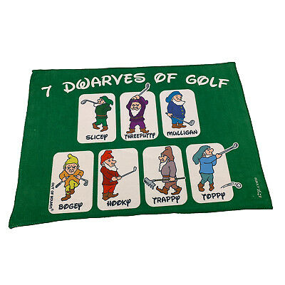 Golf Sports Towel Funny Novelty Sweat Rag - 7 Dwarves Of Golf