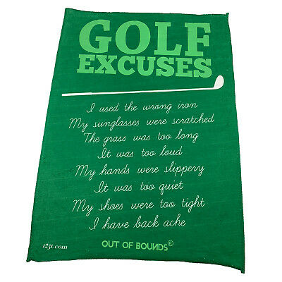 Golf Sports Towel Funny Novelty Sweat Rag - Golf Excuses
