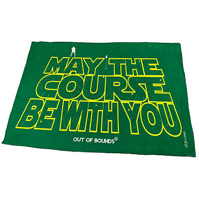 Golf Sports Towel Funny Novelty Sweat Rag - May The Course Be With You