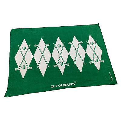 Golf Sports Towel Funny Novelty Sweat Rag - Out Of Bounds Logo