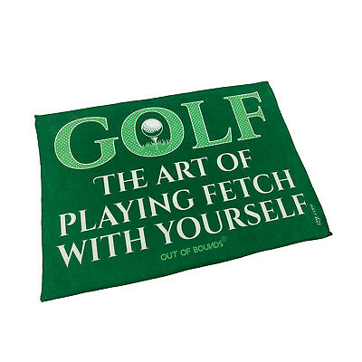 Golf Sports Towel Funny Novelty Sweat Rag - Golf The Art Of Playing Fetch Wit