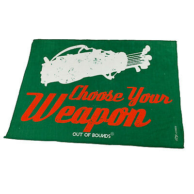 Golf Sports Towel Funny Novelty Sweat Rag - Choose Your Weapon Golf