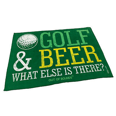 Golf Sports Towel Funny Novelty Sweat Rag - Golf And Beer What Else Is There