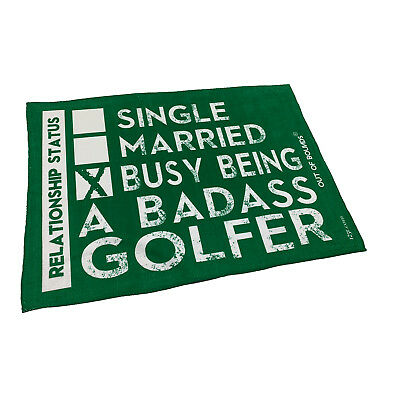 Golf Sports Towel Funny Novelty Sweat Rag - Single Married Busy Being A Badas