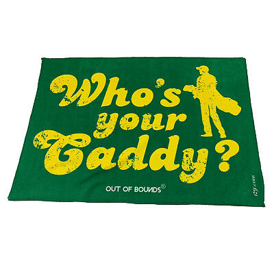 Golf Sports Towel Funny Novelty Sweat Rag - Whos Your Caddy