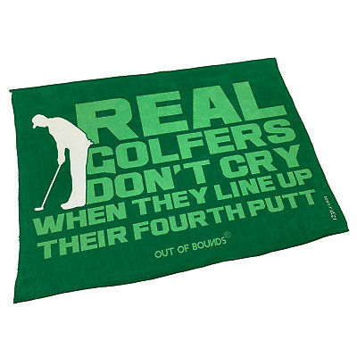 Golf Sports Towel Funny Novelty Sweat Rag - Real Golfers Dont Cry When They L