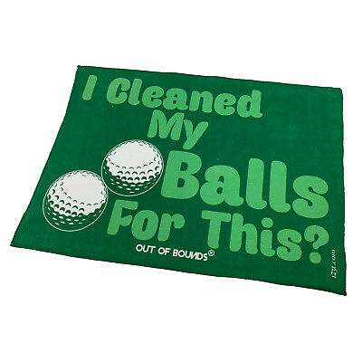 Golf Sports Towel Funny Novelty Sweat Rag - I Cleaned My Balls For This