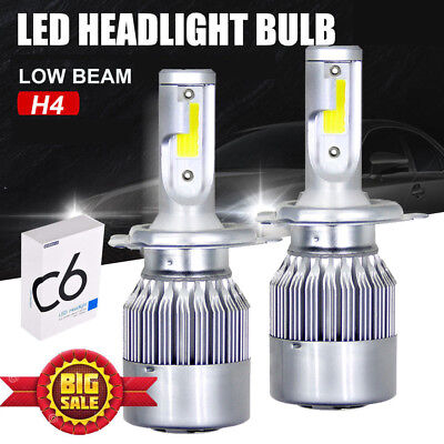 H4 HB2 9003 Car LED Headlights Kit Lights Bulbs Hi/Lo 90W 138000LM 6000K White