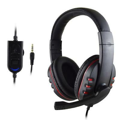Wired Gaming Headset Headphones with Microphone for PS4/PC/Laptop/Mac/Phone USA