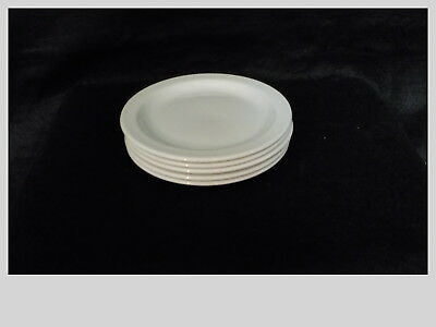 """FIVE  Midwinter England Stonehenge White 7"""" Bread & Butter Plates EXCELLENT"""