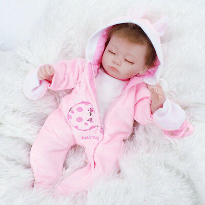 "16"" Reborn Baby Dolls Real Life Vinyl Silicone Baby Girl Sleeping Kids Gifts Toy"