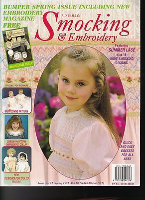 Australian SMOCKING & Embroidery**Issue No. 22, Spring 1992**+Inspirations Issue