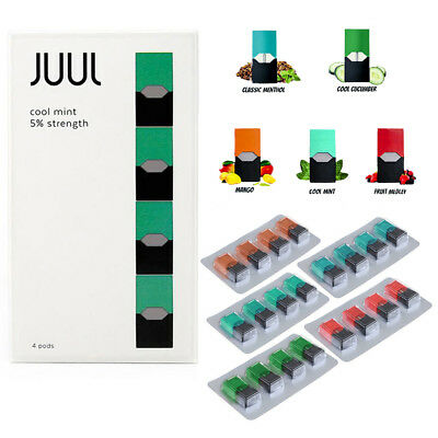 J UUL WRAP DECAL Compatible 4Pods Mango/Cucumber/CoolMint/Menthol /Fruit Flavors