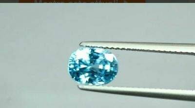 50% off n2 natural blue zircon's 6,83ct no reserve