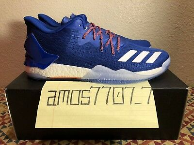 1def58eddeee Adidas D Rose 7 Low Derrick Rose Blue Orange Boost Basketball Shoes Men 12.5