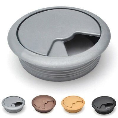 Computer Desk Table Plastic Grommet Cable Tidy Wire Hole Cover Office Organize