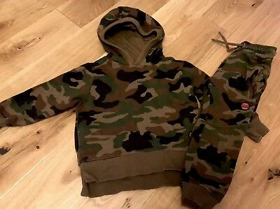Next Infant Boy Full Tracksuit Age 3 Years In Green Good Clean Condition