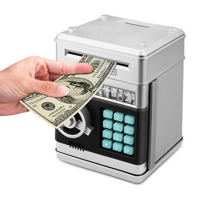 Piggy Bank Mini ATM Money Box Safety Electronic Password Chewing Coin Deposit
