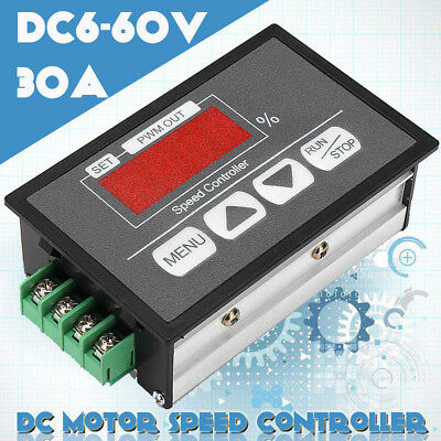 1xDC Motor Speed Governor 6-60V PWM Module & 30A Digital Controller Switch Kit