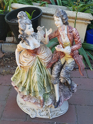 Large Vintage Porcelain/Ceramic Figurine/Statue of a Victorian Courting Couple