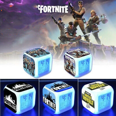 HOT FORTNITE GAME Color Changing Night Light Alarm Clock Kids Toy Game Gift UK
