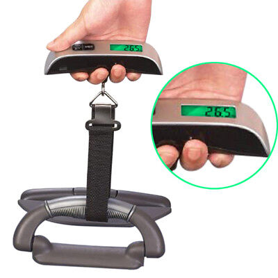 50kg/10g Portable LCD Digital Hanging Luggage Scale Balance Travel Electronic