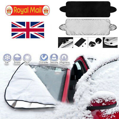 WINDSCREEN COVER Magnetic Car Window Screen Frost Ice Large Snow Dust Protect UK