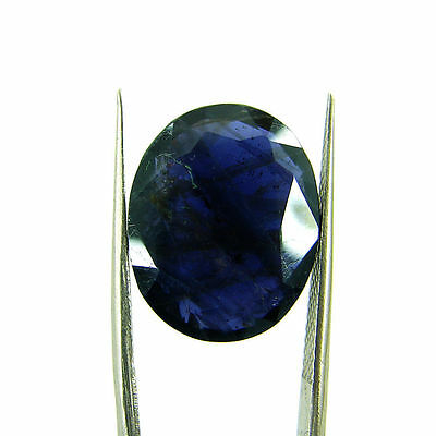 9.24 Ct Oval Natural Blue Iolite Loose Gemstone Untreated Stone - 116747