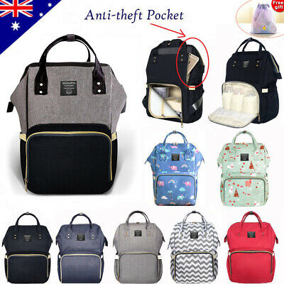 Luxury Multifunctional Baby Diaper Nappy Backpack Waterproof Large Mummy Bag AU