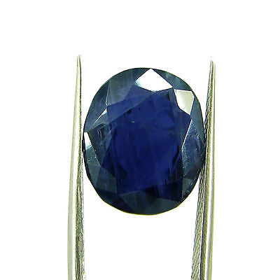 7.17 Ct Oval Natural Blue Iolite Loose Gemstone Untreated Stone - 116746