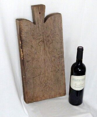 French Traditional Rustic Antique Oak Large Heavy Breadboard or chopping board.