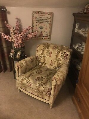 Beautiful  Vintage FRENCH ARMCHAIR LOVELY Original QUALITY Chair (matching Pair)